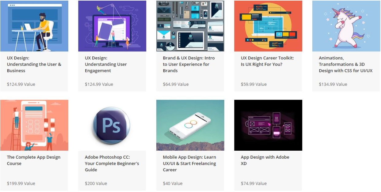 User Experience bundle courses